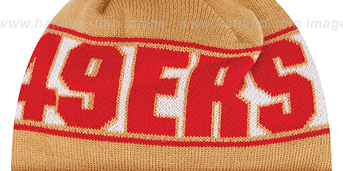 49ers 'REP-UR-TEAM' Knit Beanie Hat by New Era