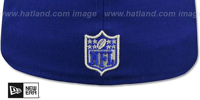 49ers 'SILVER METAL-BADGE' Royal Fitted Hat by New Era