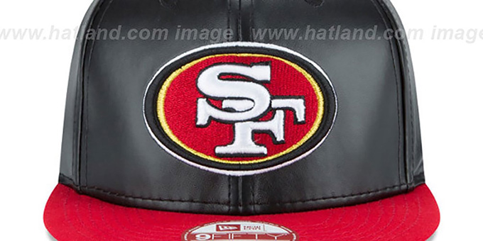 49ers 'SMOOTHLY STATED SNAPBACK' Black-Red Hat by New Era