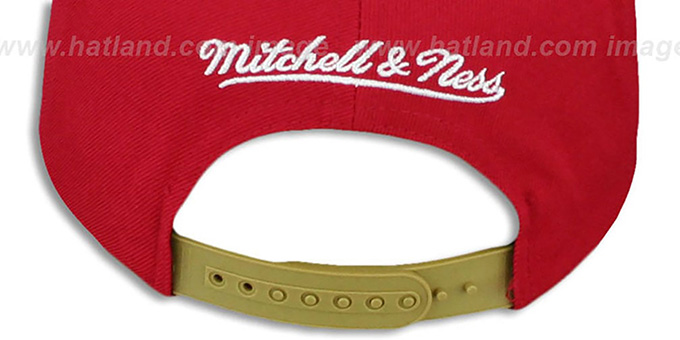 49ers 'STOP-ON-A-DIME SNAPBACK' Red-Gold Hat by Mitchell and Ness