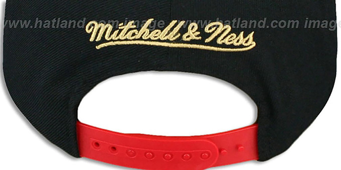 49ers 'THE-WAVE SNAPBACK' Black-Red Hat by Mitchell and Ness
