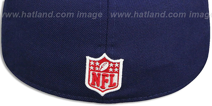 49ers 'USA WAVING-FLAG' Navy Fitted Hat by New Era