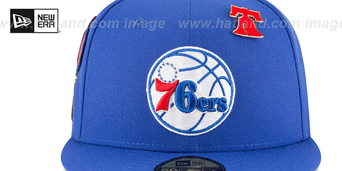76ers '2018 NBA DRAFT' Royal Fitted Hat by New Era