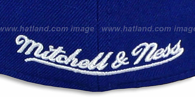 76ers '2T XL-LOGO' Royal-Red Fitted Hat by Mitchell & Ness