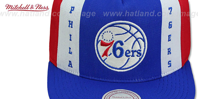 76ers 'AJD SNAPBACK' Royal-White-Red Adjustable Hat by Mitchell and Ness