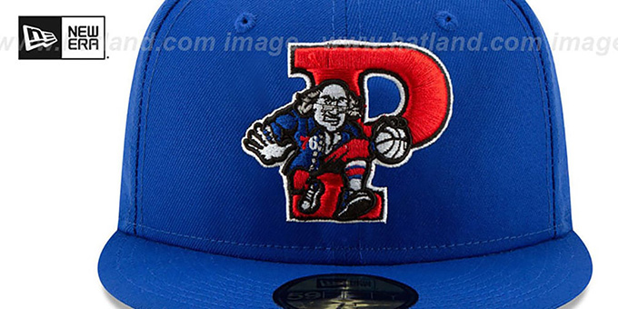 76ers 'DECEPTORED' Royal Fitted Hat by New Era