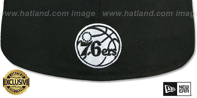 76ers 'GOTHIC TEAM-BASIC' Black Fitted Hat by New Era