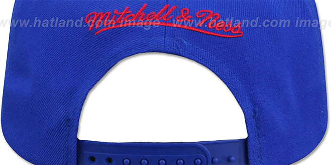 76ers HWC 'CITY NICKNAME SCRIPT SNAPBACK' Royal-Red Hat by Mitchell and Ness
