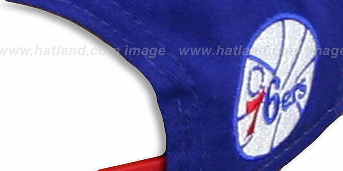 76ers 'MARVEL RETRO-SLICE SNAPBACK' Royal-Red Hat by New Era
