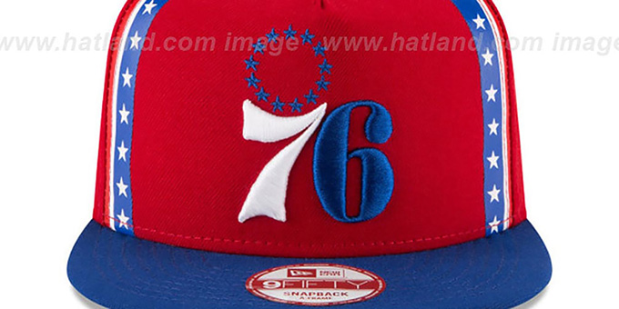 76ers 'NBA JERSEY MURAL SNAPBACK' Hat by New Era
