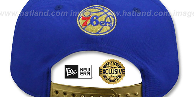76ers 'SWINGMAN SNAPBACK' Royal-Gold Hat by New Era