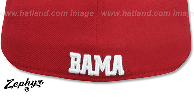 Alabama 'DH-2' Crimson Fitted Hat by Zephyr