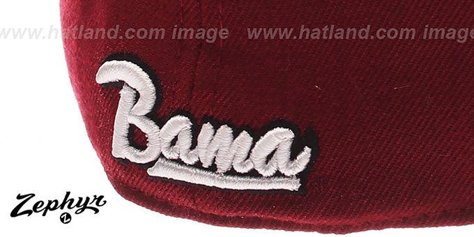 Alabama 'DH' Fitted Hat by ZEPHYR - burgundy