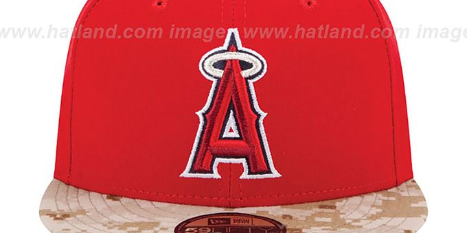 Angels '2015 STARS N STRIPES' Fitted Hat by New Era