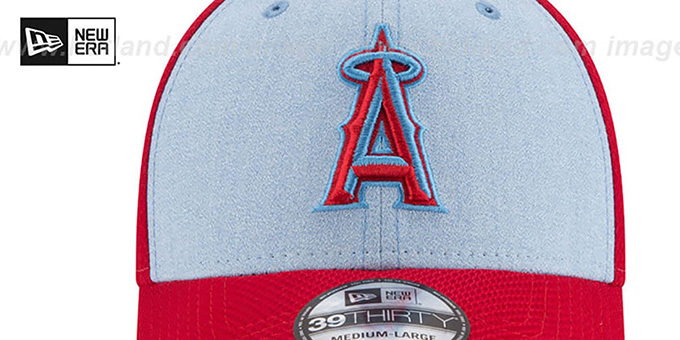 Angels '2018 FATHERS DAY FLEX' Sky-Red Hat by New Era