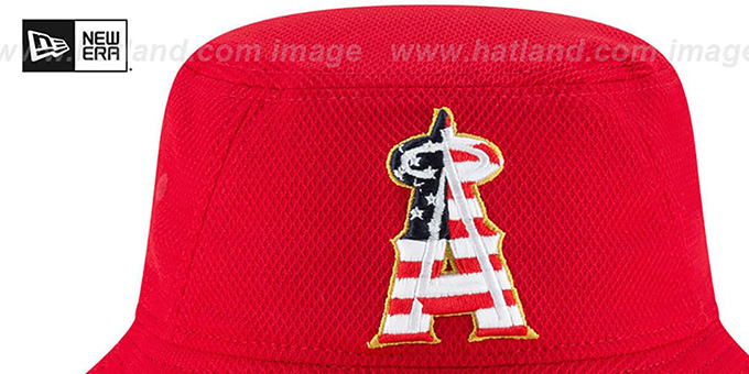 Angels '2018 JULY 4TH STARS N STRIPES BUCKET' Red Hat by New Era
