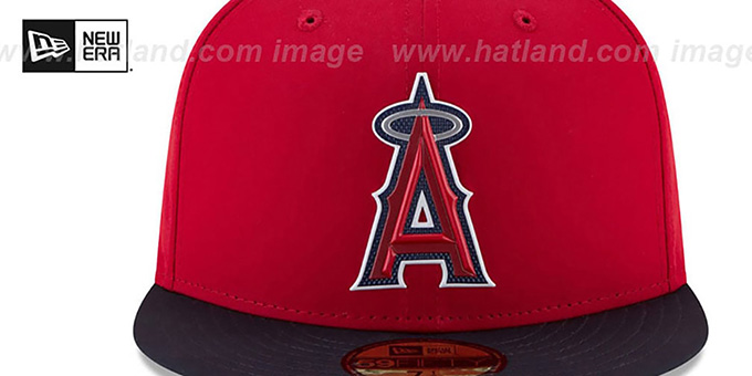 Angels '2018 PROLIGHT-BP' Red-Navy Fitted Hat by New Era