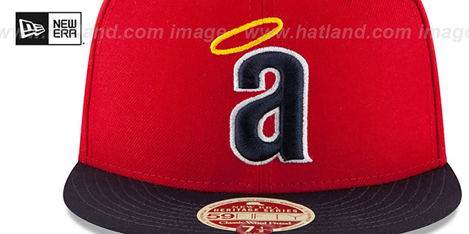 Angels 'MLB COOPERSTOWN WOOL-STANDARD' Red-Navy Fitted Hat by New Era