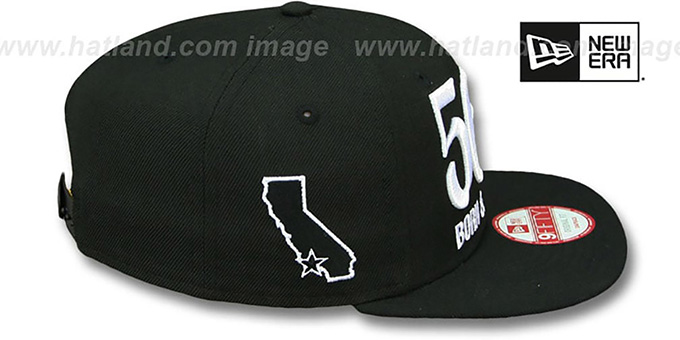 Area Code '562 BORN-N-RAISED SOCAL SNAPBACK' Black Hat by New Era