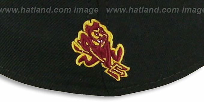 Arizona State '2T NCAA-BASIC' Black-Burgundy Fitted Hat by New Era
