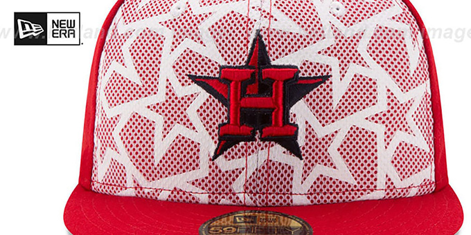 Astros '2016 JULY 4TH STARS N STRIPES' Fitted Hat by New Era