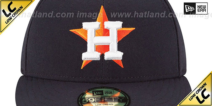 Astros 'LOW-CROWN' HOME Fitted Hat by New Era