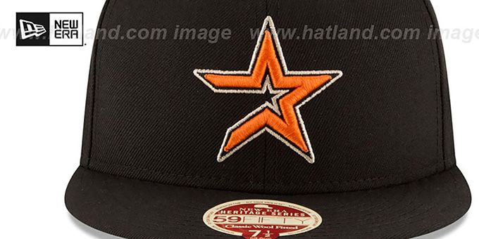 Astros 'MLB COOPERSTOWN WOOL-STANDARD' Black Fitted Hat by New Era
