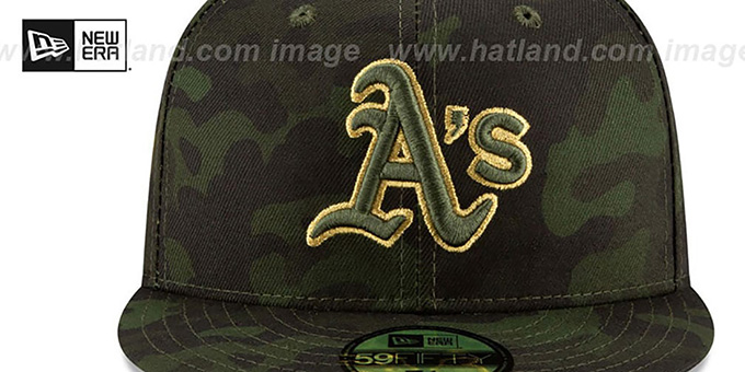 Athletics 2019 ARMED FORCES 'STARS N STRIPES' Hat by New Era
