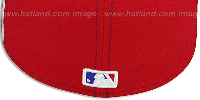 Athletics COOP 'PINWHEEL' Royal-White-Red Fitted Hat by New Era
