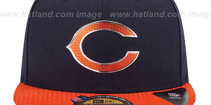 Bears '2015 NFL DRAFT' Navy-Orange Fitted Hat by New Era