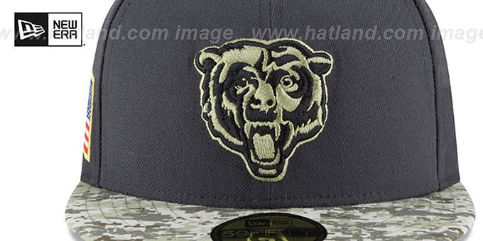 ... Bears  2016 SALUTE-TO-SERVICE  Grey-Desert Fitted Hat by New ... 74e348314dd