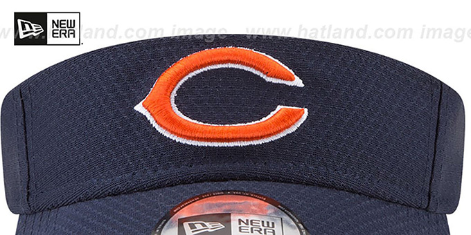 Bears '2017 NFL TRAINING VISOR' Navy by New Era