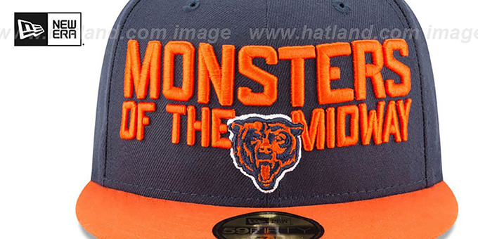 Bears '2018 SPOTLIGHT' Navy-Orange Fitted Hat by New Era