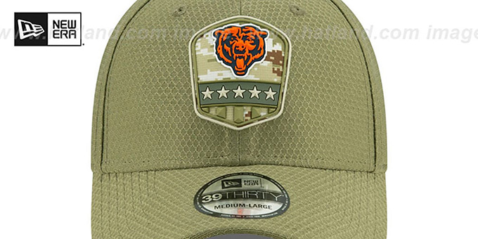 Bears '2019 SALUTE-TO-SERVICE FLEX' Olive Hat by New Era