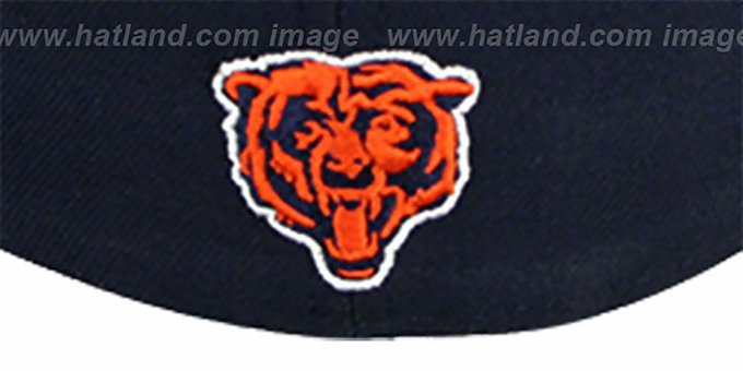 Bears 'NFL 2T CHOP-BLOCK' Navy-Orange Fitted Hat by New Era