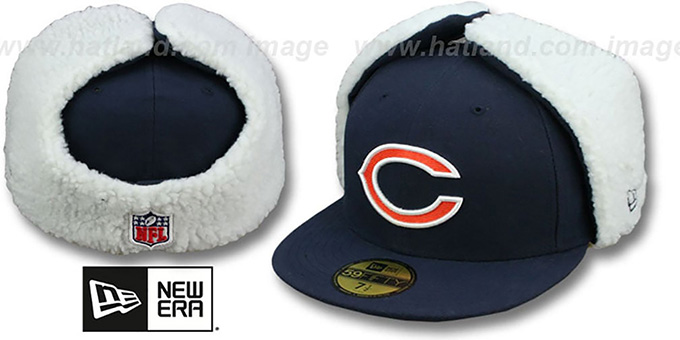 Bears 'NFL-DOGEAR' Navy Fitted Hat by New Era