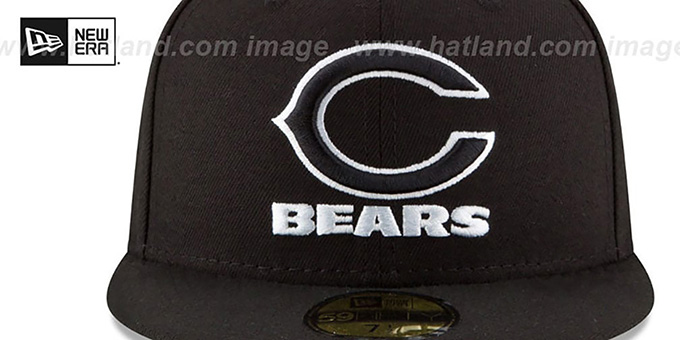 Bears 'NFL TEAM-BASIC' Black-White Fitted Hat by New Era