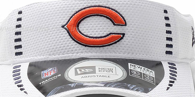 Bears 'NFL TRAINING' White Visor by New Era