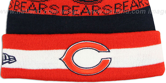 Bears 'REPEATER SCRIPT' Knit Beanie Hat by New Era