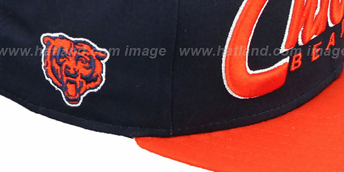 Bears 'SNAP-IT-BACK SNAPBACK' Navy-Orange Hat by New Era