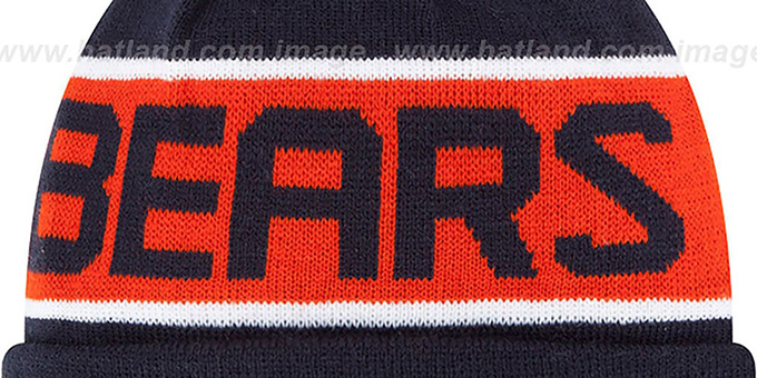 Bears 'THE-COACH' Navy Knit Beanie Hat by New Era