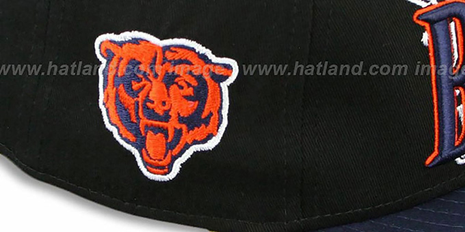 Bears 'THROUGH SNAPBACK' Black-Navy Hat by New Era