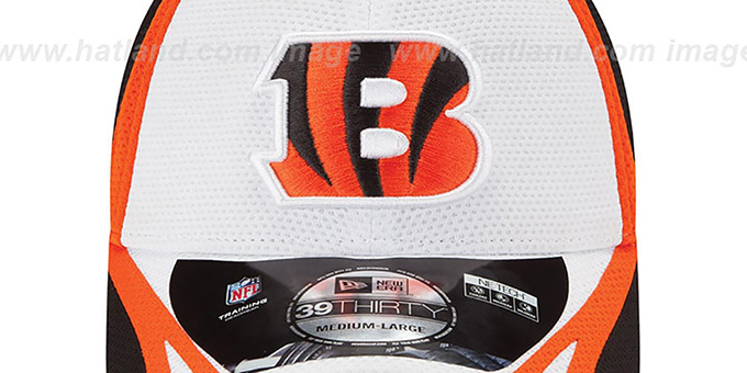 Bengals '2014 NFL TRAINING FLEX' White Hat by New Era