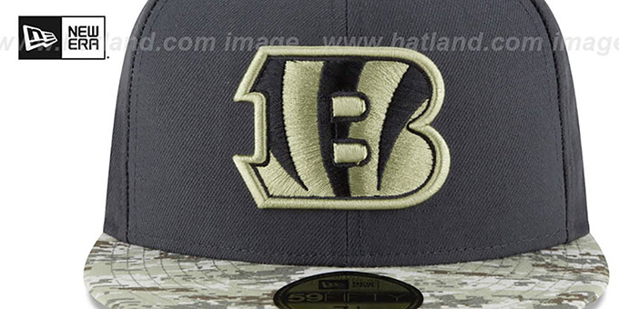 Bengals '2016 SALUTE-TO-SERVICE' Grey-Desert Fitted Hat by New Era