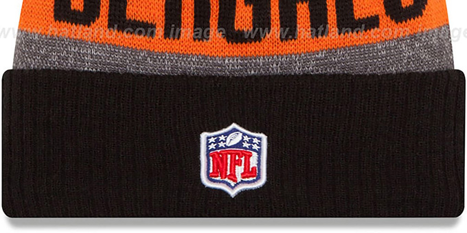 Bengals '2016 STADIUM' Black-Orange-Grey Knit Beanie Hat by New Era