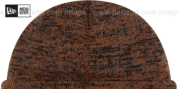 Bengals 'BEVEL' Orange-Black Knit Beanie Hat by New Era
