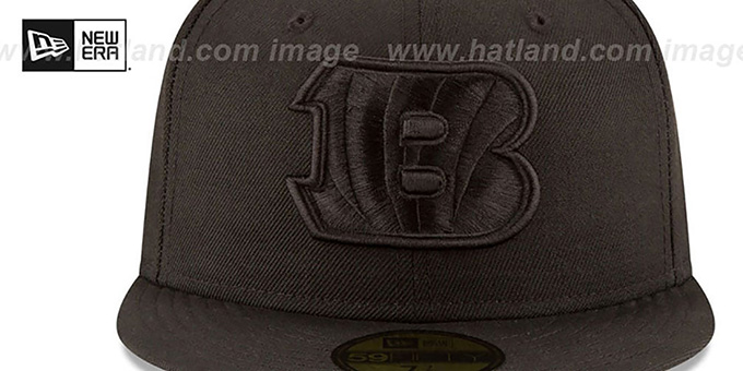 Bengals 'NFL TEAM-BASIC BLACKOUT' Fitted Hat by New Era