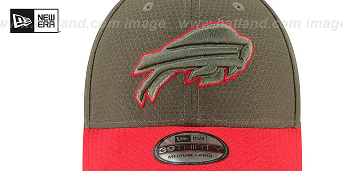 Bills '2017 SALUTE-TO-SERVICE FLEX' Green-Red Hat by New Era