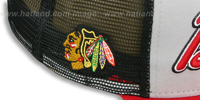 Blackhawks 'MARK-MESH A-FRAME SNAPBACK' Hat by New Era