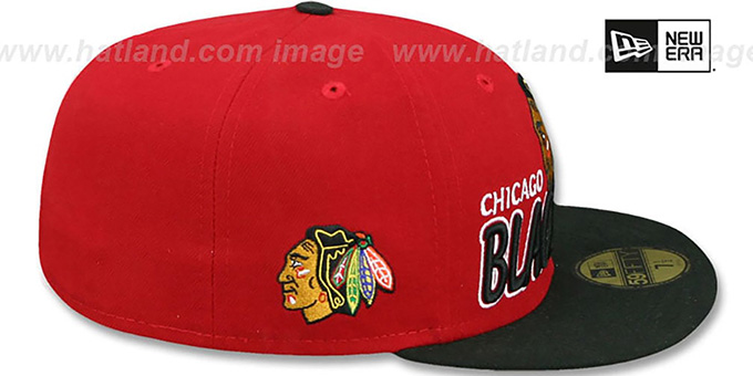 Blackhawks 'NHL-TIGHT' Red-Black Fitted Hat by New Era